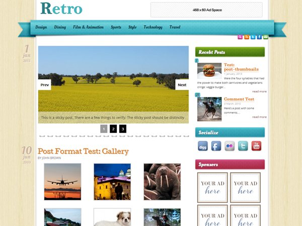 retro wordpress theme screenshot
